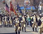 波士頓聖派翠克日大遊行盛況。(大紀元存檔)
