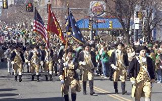 波士顿圣派翠克日大游行盛况。(大纪元存档)
