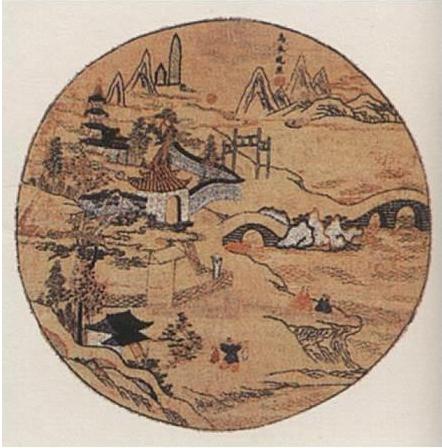 明人据刘禹锡名诗《乌衣巷》绘成《乌衣晚照》(公有领域)