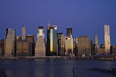 纽约曼哈顿岛风光(戴兵/大纪元)
