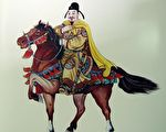 唐太宗畫像(王雙寬繪圖/大紀元)
