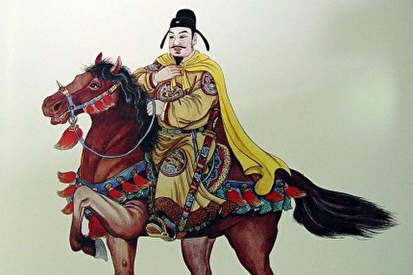唐太宗画像(王双宽绘图/大纪元)