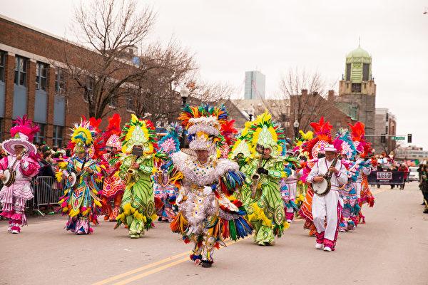 2017年3月19日,波士頓聖派垂克遊行。(戴兵/大紀元)