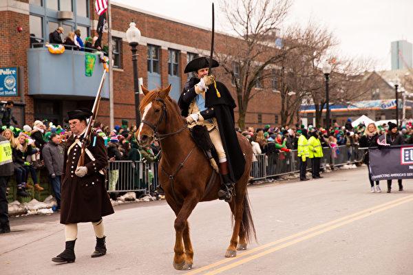 2017年3月19日,波士顿圣派垂克游行。(戴兵/大纪元)