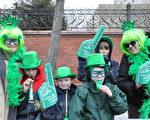 多倫多的St. Patrick節遊行,吸引各族裔參加 。(大紀元資料圖)