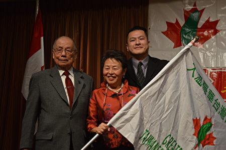 圖:大溫哥華台灣同鄉會新春晚會,同鄉會新舊會長交替,張理瑲當任新一屆會長。(邱晨/大紀元)