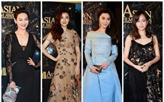 21日,第11屆「亞洲電影大獎」頒獎禮在香港拉開帷幕,眾星雲集紅毯。(宋碧龍/大紀元合成)