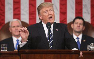 2月28日,美國總統川普首次在國會聯席會議上發表演說。  (JIM LO SCALZO/AFP/Getty Images)