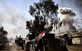伊拉克軍官週日(12日)表示,伊拉克部隊已經從伊斯蘭恐怖分子(IS)手中奪回了30%的摩蘇爾西部地區。 (Photo credit should read ARIS MESSINIS/AFP/Getty Images)