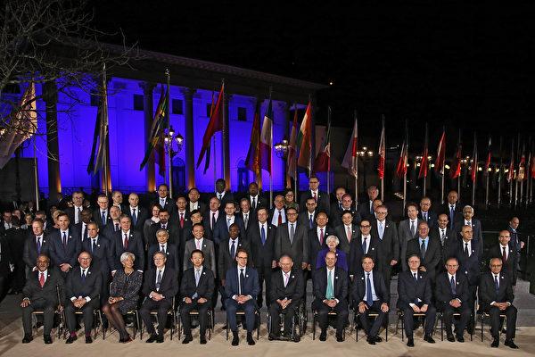 "G20财长会议18日闭幕,公报少了过去常见的""反对贸易保护主义""及""气候变化""等内容。(Thomas Niedermueller - Pool/Getty Images)"