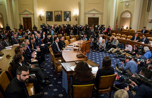 周一(3月20日),众议院情报委员会就俄罗斯干预美大选进行第一次听证会,结果显示川普和俄罗斯之间尚无关联。(Photo by Zach Gibson/Getty Images)