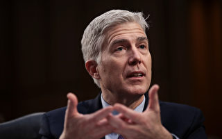 3月21日,美國大法官提名人戈薩奇在國會接受任命聽證。 (Drew Angerer/Getty Images)