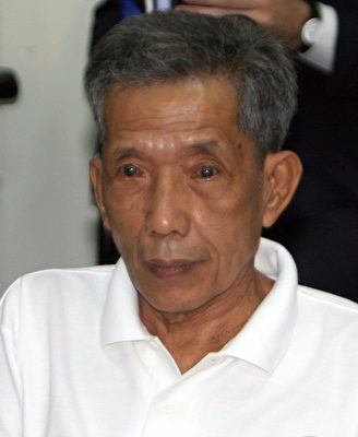 柬埔寨前红色高棉监狱长康克由被判终身监禁。 (TANG CHHIN SOTHY/AFP/Getty Images)