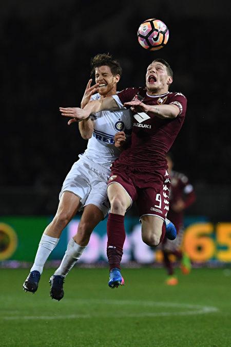 國際米蘭客場2-2戰平都靈,目前以55分,位居第5位,為獲得歐冠資格還有一拼。 (Valerio Pennicino/Getty Images)