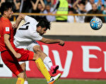 中國男足在客場0-1不敵伊朗。七輪過後,中國隊積5分,排在A組第五位。 (ATTA KENARE/AFP/Getty Images)