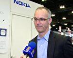 诺基亚光纤网路行销总监Kyle Hollasch。(刘宁/大纪元)