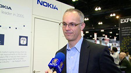 諾基亞光纖網路行銷總監Kyle Hollasch。(劉寧/大紀元)