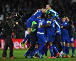 萊斯特城主場2-0力克塞維利亞,以總比分3比2晉級歐冠八強。 (Laurence Griffiths/Getty Images)
