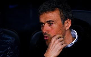 主帅恩里克宣布,下赛季将不再继续执教巴萨。 (David Ramos/Getty Images)