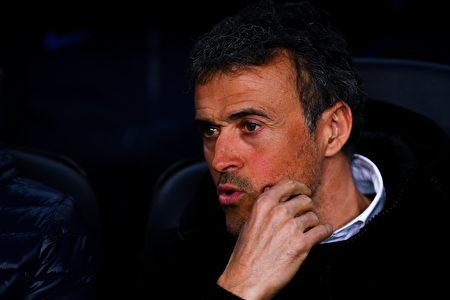 主帥恩里克宣佈,下賽季將不再繼續執教巴薩。 (David Ramos/Getty Images)