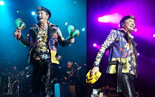 香港粤语歌神许冠杰在美国大西洋城演唱会现场。(主办机构麦田国际文化提供)