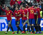 西班牙4-1大勝以色列,創世預賽24年不敗紀錄。(Juan Manuel Serrano Arce/Getty Images)