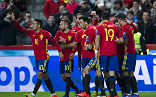 西班牙4-1大胜以色列,创世预赛24年不败纪录。(Juan Manuel Serrano Arce/Getty Images)