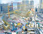 有报道指,正在兴建的广深港高铁西九总站(图)的设计包括一地两检设施,更有羁留室。(大纪元资料图片)