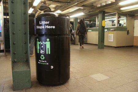 """大都会捷运署终止了""""无垃圾桶地铁站试点项目""""。"""