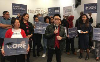 華裔學生魏柯就是這「借貸大軍」裡的一員。他表示,很多華人學生的律師夢,就被貸款生生隔斷了。 (于佩/大紀元)