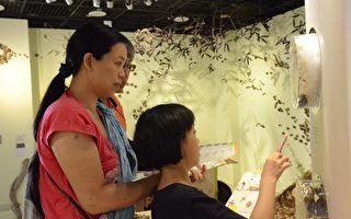 高美館邀請家長們定位自己為陪伴者,與孩子輕鬆、自在地走進美術館,在小旅行中一起發現驚喜。(高美館提供)