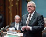 3月14日,魁北克卫生部长巴海特在魁省议会回答反对党质询。(加通社)