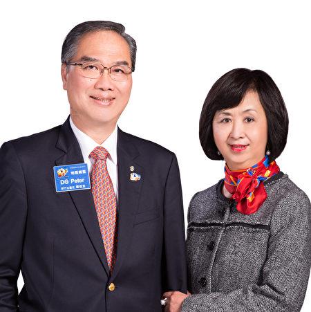 3500地区总监郑桓圭伉俪。(3500 地区总监提供)
