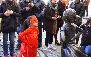 銅牛對面 紐約華爾街現新地標:無懼女孩