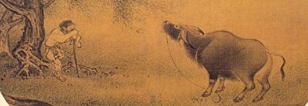 宋 佚名《柳塘呼犊》册‧绢‧设色。(公有领域)