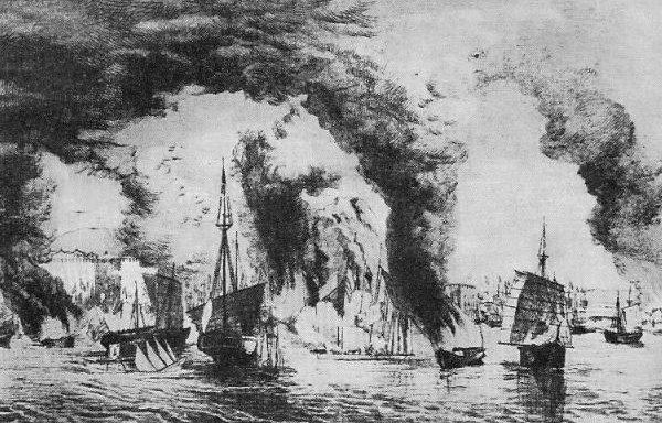 南京附近的太平军海战(维基百科公有领域)