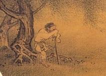 宋 佚名《柳塘呼犊》局部(公有领域)