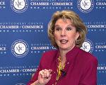 蒙郡商会(Montgomery County Chamber of Commerce,简称MCCC)主席兼总裁高德文(Gigi Godwin)女士。(新唐人电视)