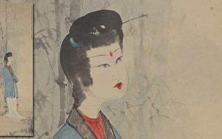 售出141萬美元的傅抱石仕女畫(Lady by the Bamboo)。(北加拍賣行Michaan's Auction提供)