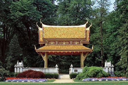 泰王在巴特洪堡治好了病,特贈泰國亭表示感謝。(巴特洪堡旅遊局提供)