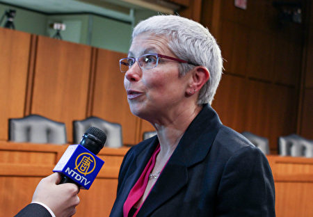 《人权观察》中国部主任里查森(Sophie Richardson)敦促川普政府对中共的人权问题给予加倍关注。(何伊/大纪元)