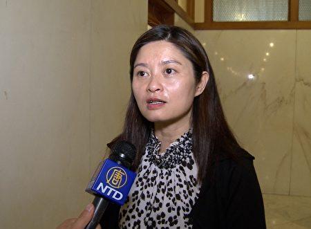 亞裔選民協會創辦人招霞。(林驍然/大紀元)
