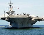美国海军卡尔文森号航空母舰4月23日晚间抵达西澳弗里曼特尔港。图为该航母2011年5月15日停靠在菲律宾马尼拉港。(法新社)