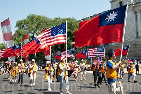 中華民國與美國國旗。(大紀元資料照)