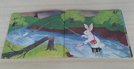 绘本《逃家小兔》,马格丽特.怀兹.布朗1942年作品。小兔想像力十足的告诉妈妈要逃家,妈妈回答天涯海角也会找到他,以其幽默感和创意,陪着小兔大玩逃家语文游戏。是一本流传久远的经典名作。(李梅翻摄/大纪元)