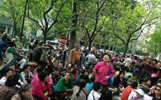 連續多日,近千名E租寶被害者再次進京上訪。(受訪者提供)