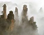 黃東明作品《雲山煙樹》—100x227 > 120x247cm(黃東明提供)