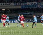 4月12日,中超王者廣州恆大作客川崎,以0-0的比分驚險守得一場平局。(野上浩史/大紀元)