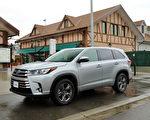 2017 Toyota Highlander Hybrid。〈李奧/大紀元〉