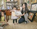 """小言的两个女儿都非常喜欢绘本""""My Guardian Angel""""。(曹景哲/大纪元)"""